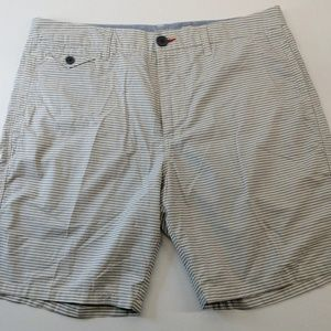 Howe Blue White Stripe Shorts Size 34
